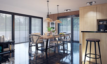 Modern Domestic Dining Room In...