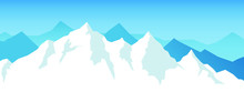 Vector Snow Mountains Backgrou...