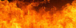 Leinwandbild Motiv blaze fire flame conflagration texture for banner background