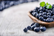 Freshly Picked Blueberries In ...