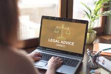 Legal Advice Concept On A Lapt...