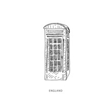 Travel Illustration With Attraction Of England