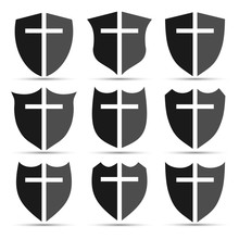 Christian Cross And Shield Of ...