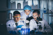 canvas print picture - Health care researchers working in life science laboratory