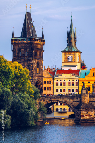 Fényképezés Charles Bridge, Old Town and Old Town Tower of Charles Bridge, Prague, Czech Republic