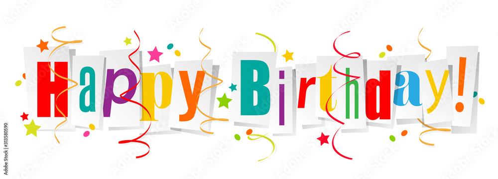 Fototapeta Happy birthday