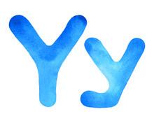 Monogram Letter Y Made Of Wate...