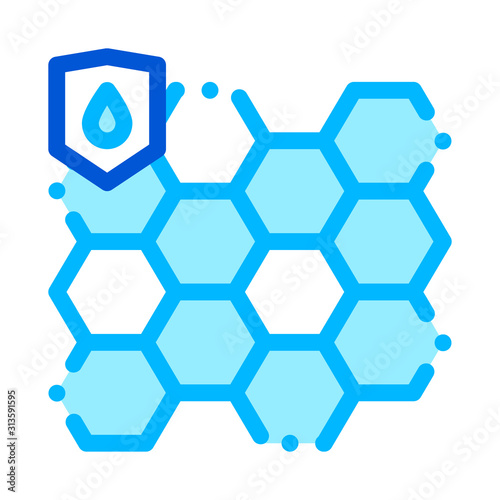 Waterproof Biometrical Material Vector Line Icon Wallpaper Mural