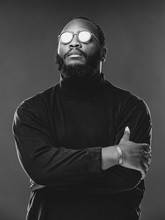 Portrait Of Serious Beard Afri...