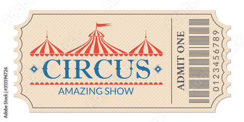 Fotomural Circus ticket