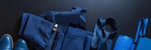 Classic Set Men Clothes Blue S...