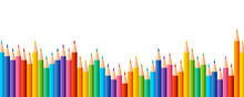 Pencils Colored In A Row With ...