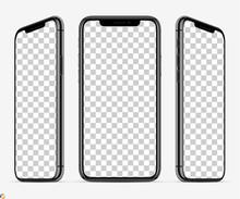 3D Smartphone Screen Mockup. S...