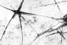 Abstract Black And White Background. Cracked Stone