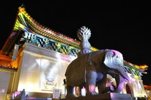 Elephant Statue In The Colorfu...