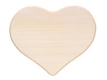 Large Wooden Heart On White Ba...