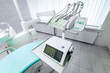 Panoramic design view of interior of dental office