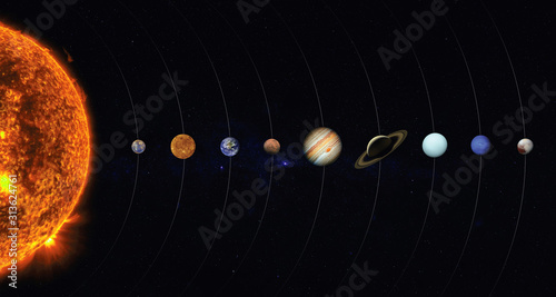 Fotomural Solar system. Elements of this image furnished by NASA
