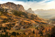 canvas print picture - Beautiful landscape of mountains during autumn