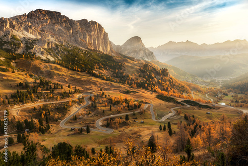 Beautiful landscape of mountains during autumn