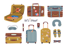 Vector Set With Travel Stuff: ...