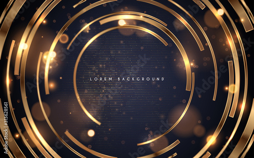 Cuadros en Lienzo  Golden rings with light effect background