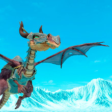 Dragon Cartoon With Armor Look...