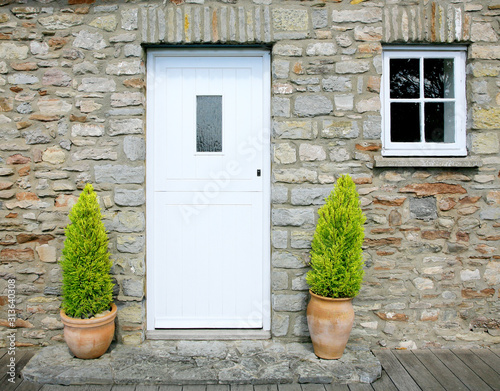 traditional stone cottage door