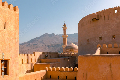 Fotomural Nizwa Fort and Mosque, Nizwa, Oman