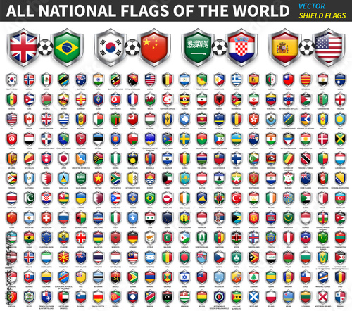 Cuadros en Lienzo  All national flags of the world
