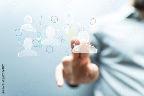 Fototapeta Network team. Social network. 3d illustration obraz