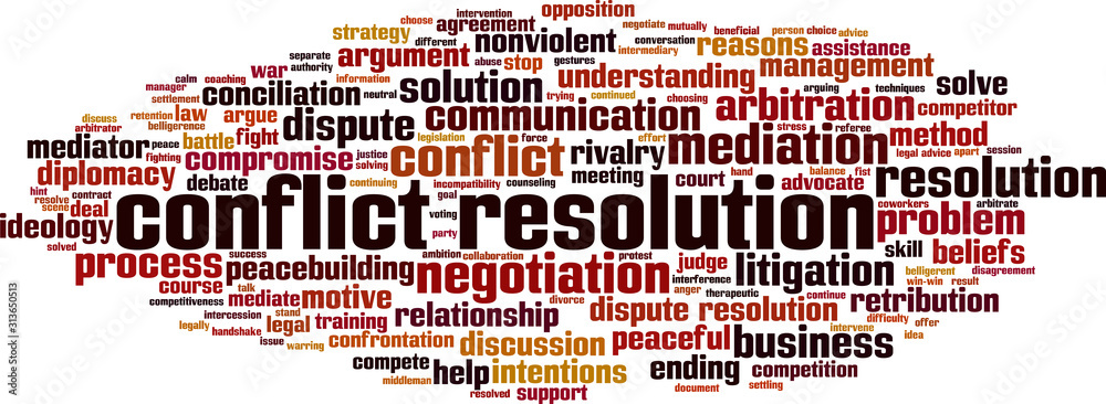 Fototapeta Conflict resolution word cloud