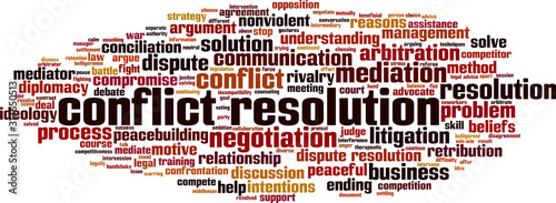 Fotografía Conflict resolution word cloud