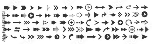 Cuadros en Lienzo Vector illustration of arrow icons set
