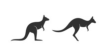 Kangaroo Logo. Isolated Kangar...