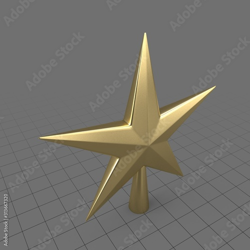 Obraz Star Christmas tree topper - fototapety do salonu