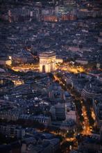 Arc De Triomphe In Paris Seen ...