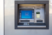 Silver Atm Machine With Screen...