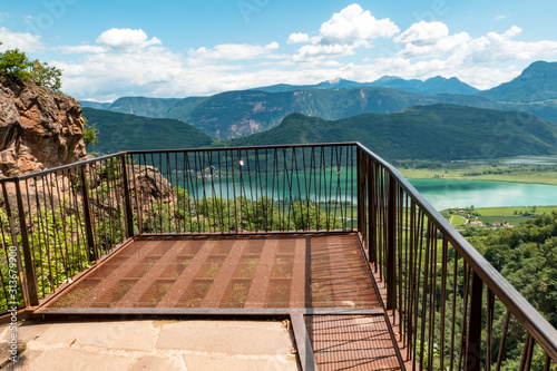 Fotografie, Tablou  Viewing platform over a lake in South Tyrol