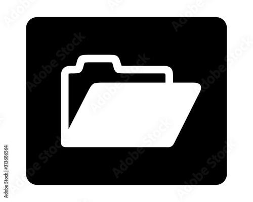 Obraz folder ikona - fototapety do salonu