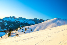 Dolomites Ski Slope In Winter,...