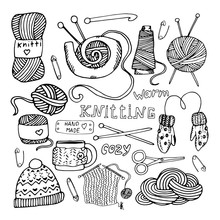 Vector Knitting Elements, Knit...