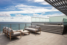 Sitting Area With Jacuzzi Overlooking Ocean
