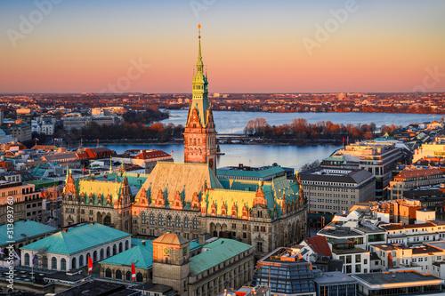 Fotografía City Hall of Hamburg, Germany