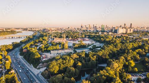 Fototapeta Warsaw Warszawa z lotu ptaka obraz
