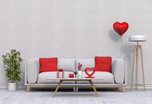 Living Room And Sofa Interior ...