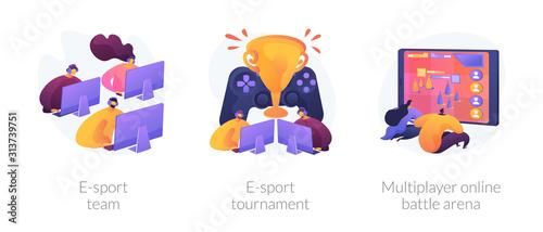 Fototapeta Online games, virtual reality, internet content