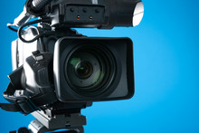 Professional Video Camera On B...