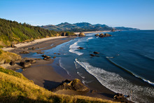 Cannon Beach From Ecola Park In Oregon