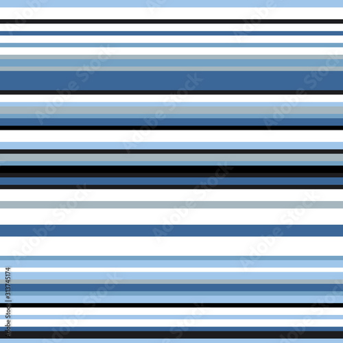 Seamless pattern with horizontal colored lines Fototapeta
